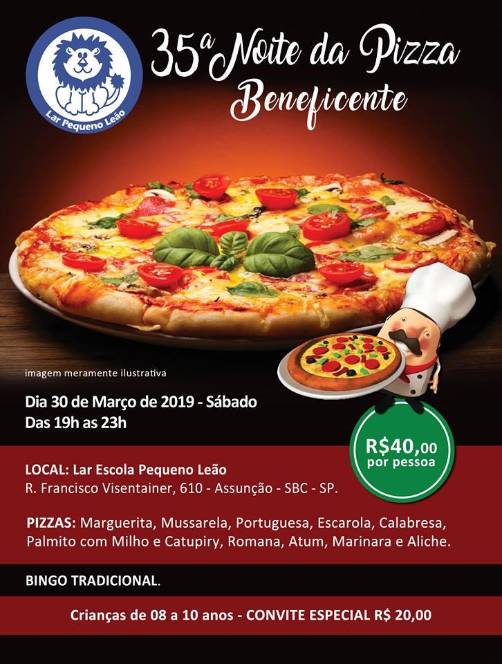 35ª Noite da Pizza Beneficente